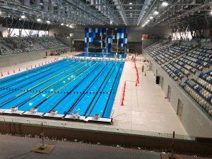 Jeux Panaméricains 2019 – Acoudesign installe un système Water-Sound sur le bassin de 50 m